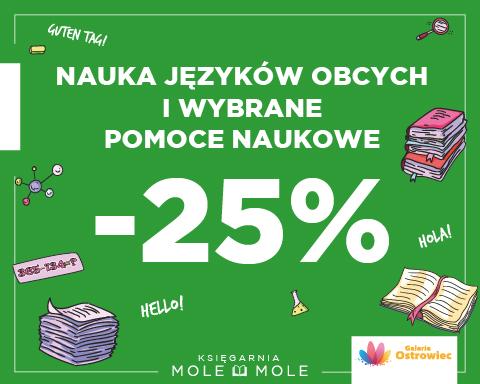 Nauka języków obcych i wybrane pomoce naukowe -25%