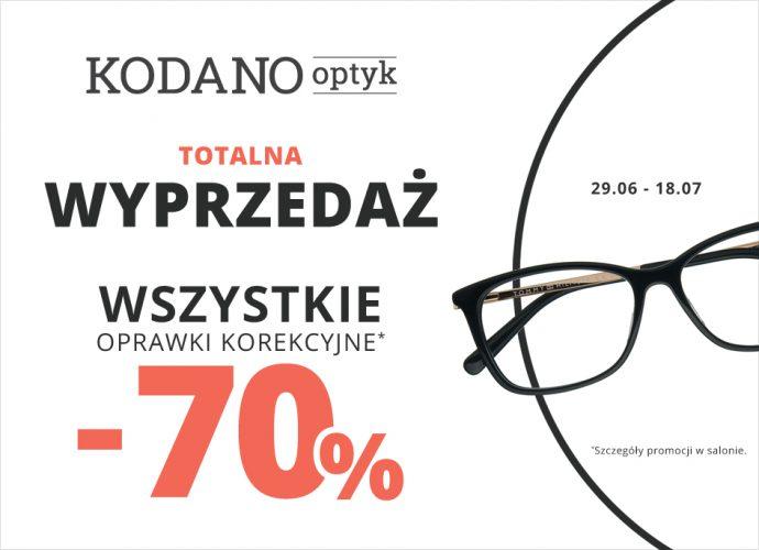 Oprawki korekcyjne 70% oraz okulary przeciwsłoneczne 30% taniej!