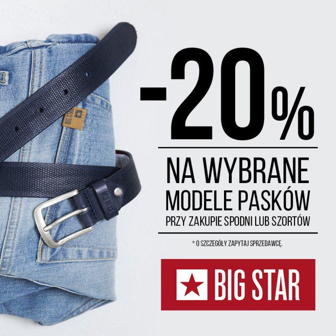 20% rabatu na paski w Big Star!