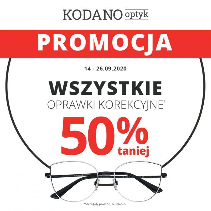 Wszystkie oprawy korekcyjne -50% oraz okulary przeciwsłoneczne –30% taniej