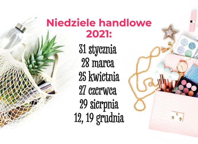 Niedziele handlowe w roku 2021 w Centrum Nowe Bielawy