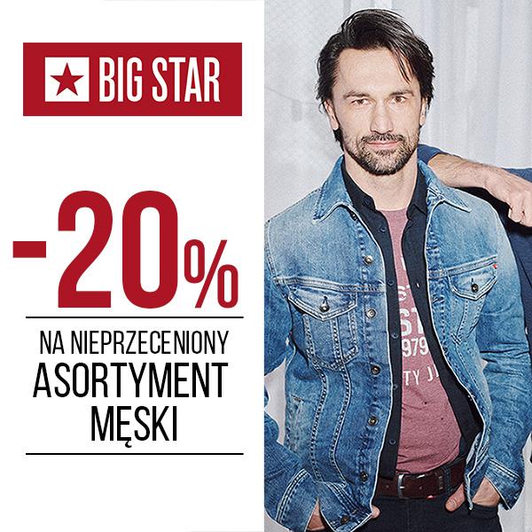 20% na nieprzeceniony asortyment męski